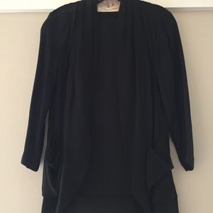 URBAN OUTFITTERS Black Open Front Jacket